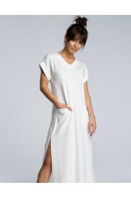 Sukienka maxi z rozcięciem B065