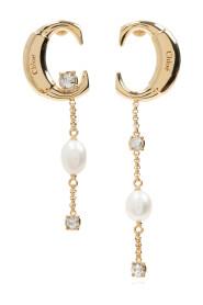 Earrings with appliqué