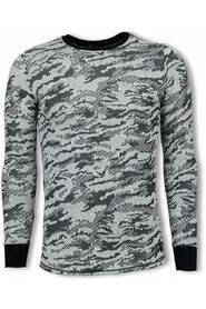 Army Look Shirt - Long Fit Sweater