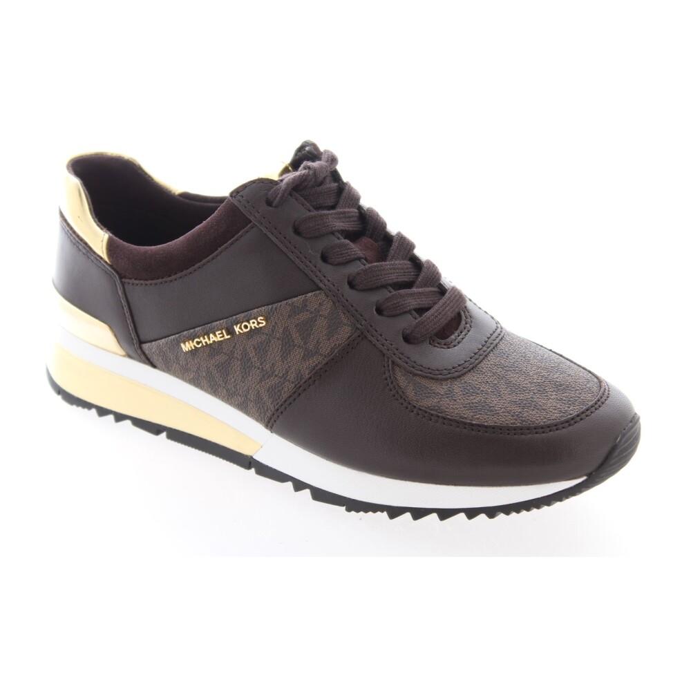 Michael Kors Sneakers Allie Wrap Trainer Bruin online kopen