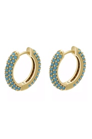 Hoop turquoise earrings
