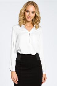 Bluzka koszulowa ze stójka i kieszonką