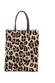 small shopping bag with animalier print
