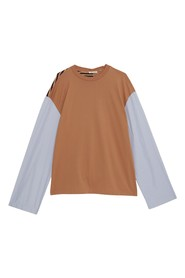 Long Sleeves Patchwork T-Shirt