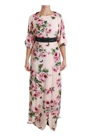 Vestido con abertura y logo de Roses Butterfly DG