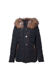 BIANCA DOWNJACKET BLACK NATURAL REAL FUR