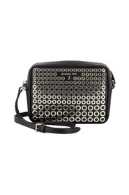 Leather shoulder strap with studs