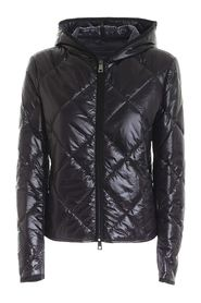 QUILTED DOWN JACKET WITH HOOD