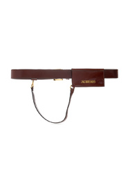 Belt with card case
