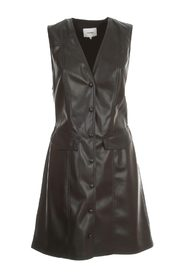 MENPHI DRESS W/S FAUX LEATHER