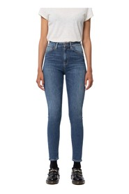 Faded blue high waist skinny jeans - hightop tilde southern lights