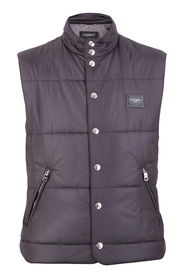 Logo patch nylon vadderad gilet