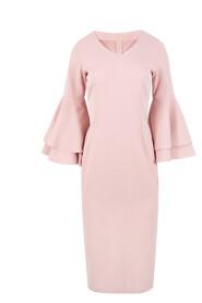Sukienka z falbanami przy rękawach