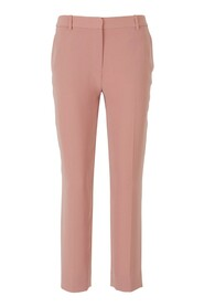 Crepe classic fit trousers