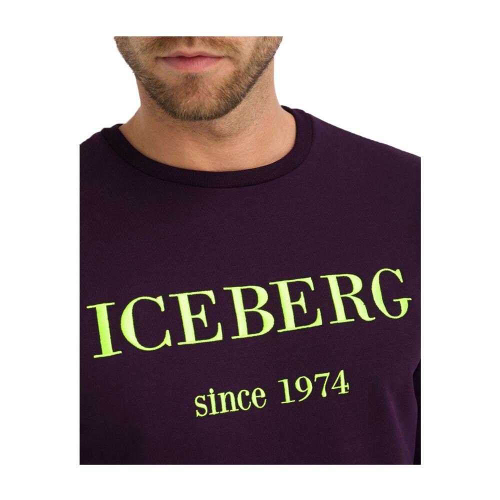 Nowy Styl Mody Odzież Mężczyźni Blue Sweatshirt Iceberg Bluzy bez kaptura