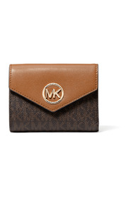 Carmen Logo Leather Envelope Wallet