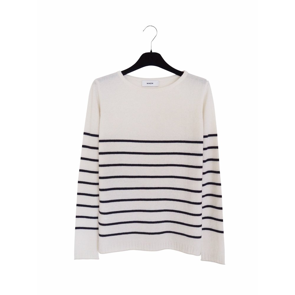 KIRSTEN Striped Cashmere Sweater