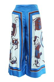 Silk Carriage Printed Pants