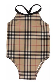 CRINA Vintage Check one-piece swimsuit