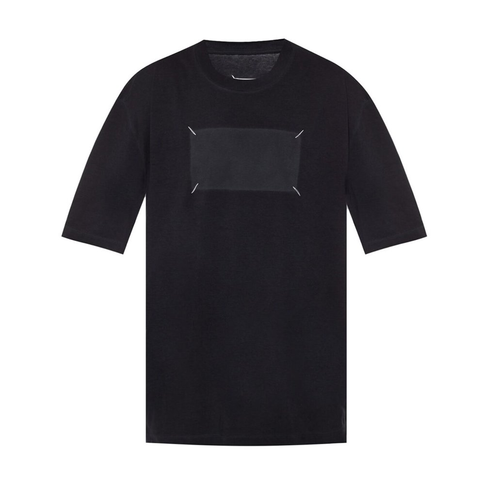 GREY T-shirt with stitching details  Maison Margiela  T-shirt med tryck