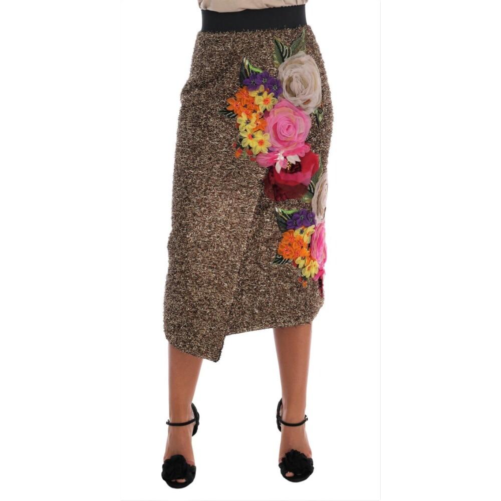 Pink Wool Knee Long A-Line Skirt  Dolce & Gabbana  Nederdele