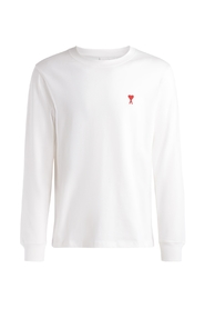 White long sleeve t-shirt with logo