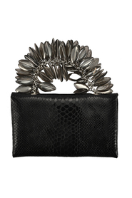 KING CARLO CLUTCH BLACK PYTHON
