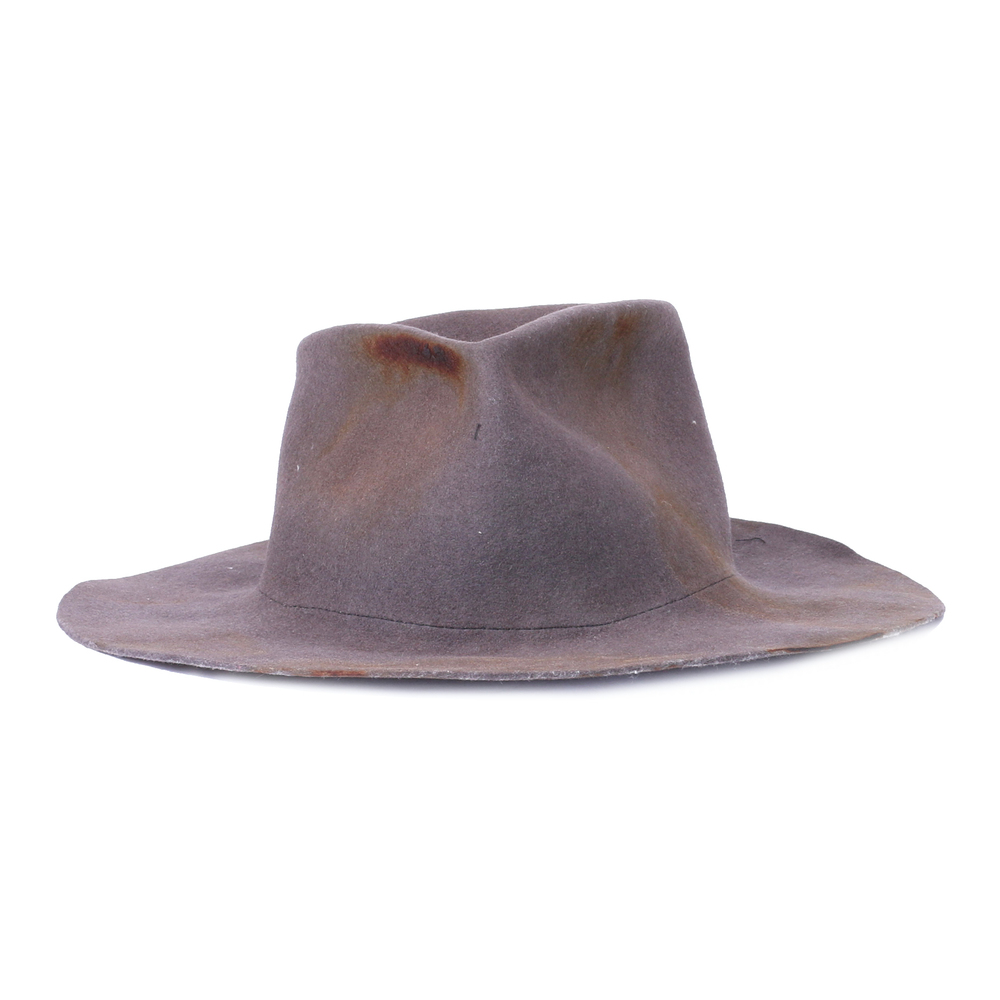 Kloshar Gray Burned Large Brim Hat Kloshar