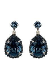 Small Drops Mørkeblå Tilbehør Earrings
