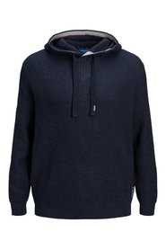 Plus size hoodie Knitted