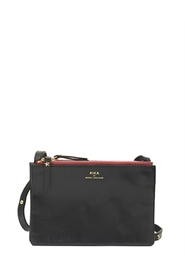 Rika Mika Black w Burgundy Zip