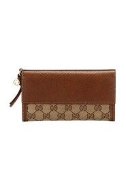 Pre-owned GG Canvas Bree Long Wallet