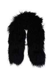 Pacifist military design Long Hair Sheepskin Scarf