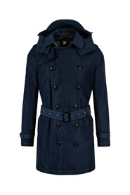 Blå Burberry Delsworth Packaway Trenchcoat