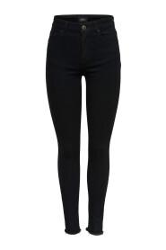 färdiga magert jeans Blush mitten fotled rå