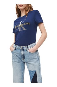 CALVIN KLEIN JEANS J20J211508 METALLIC T SHIRT AND TANK Women MEDIEVAL BLUE