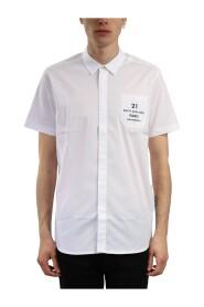 Logo-pocket short-sleeve shirt