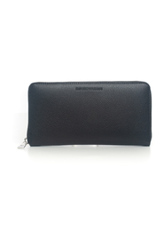 Rectangular purse with zip in leather