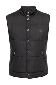 Quilted vest with a logo