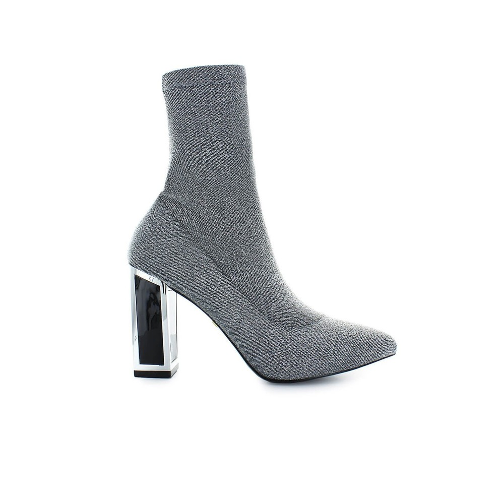 STRETCH KNIT SILVER ALEXIS BOOT
