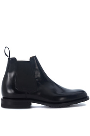Redenham black brushed leather ankle boots