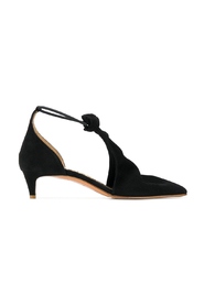 suede evening shoes with knot