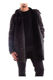 PATRIZIA PEPE 5L0252/A2EM Overcoat Men BLACK