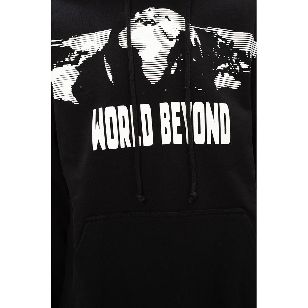 BLACK Printed hoodie | McQ | Hoodies  sweatvesten | Heren winter kleren