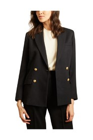 Virgin wool blazer with double crossed breasted