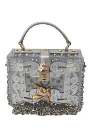 Floral Padlock Sling Clutch Crystal BOX Bag