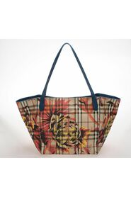 Pre-owned Haymarket Check Peony Canter Tote Bag in coated/waterproof canvas