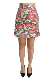 Floral High Waist Mini Skirt