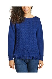 Lilas fringed sweater