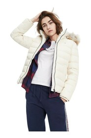 TOMMY JEANS DW0DW06774 ESSENTIAL HOOD JACKET AND JACKETS Women Panna